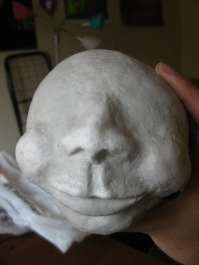 Tantalus Jr.'s head in progress