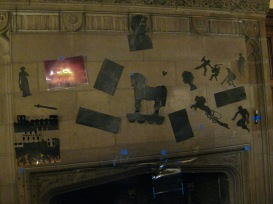 Shadow puppets as set decoration