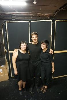 The traveling trio: Allyson Gonzalez (left), Mitch Salm (center), me (right)