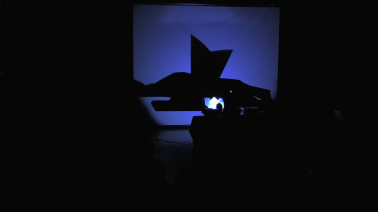 Pop-up shadow puppetry