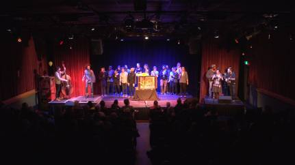 2018 Baltimore Crankie Fest curtain call