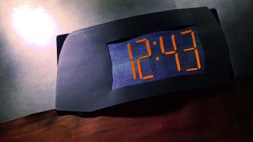Flashing digital clock