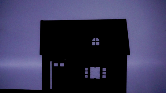 Doll house as shadow puppet